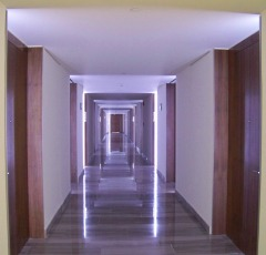 Empty office hallway, Copyright-Rich Voza
