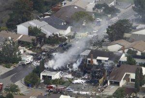 Jet Crash with houses.