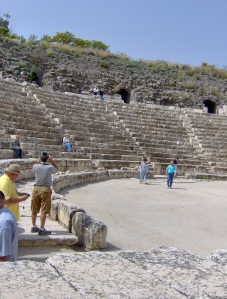 Ancient amphitheater in Beit She'an, Israel.  Copyright- Rochelle Wisoff-Fields