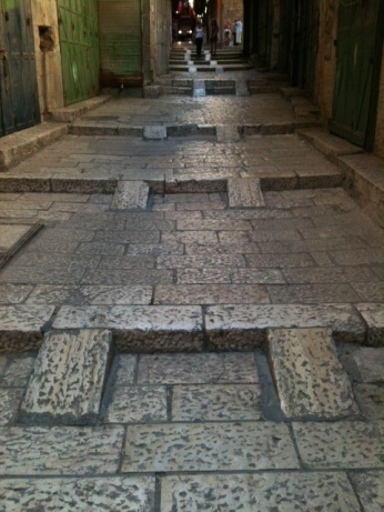 stepped streets of Jerusalem