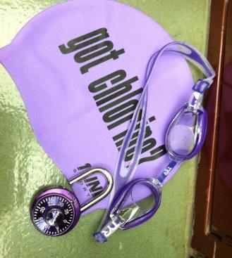 purple swimmer