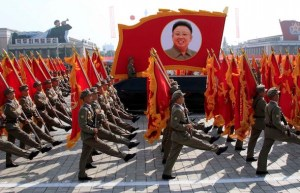 A military parade of the Worker-Peasant Red Guards and a mass demonstration took place at Kim Il Sung Square on Monday, Sept. 9th, 2013, on the occasion of the 65th anniversary of the DPRK. Kim Jong Un, first secretary of the Workers' Party of Korea, first chairman of the National Defence Commission of the DPRK and supreme commander of the Korean People's Army, was present. (AP Photo/Jon Chol Jin)