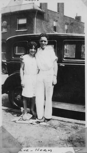 Evalyne (author's mother) and Norman Weiner on their 15th birthday.