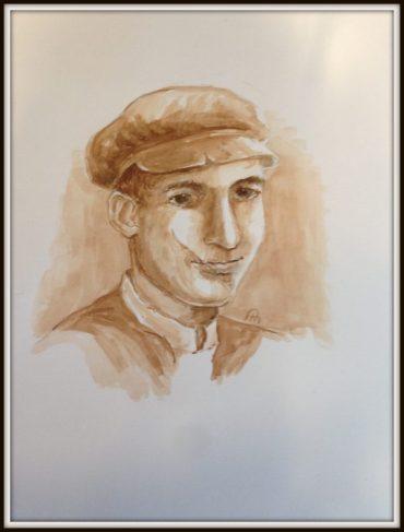 Lev Resnick, Havah's nephew-Original Artwork © Rochelle Wisoff-Fields