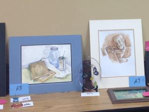 My paintings took first and second place in the annual art contest.