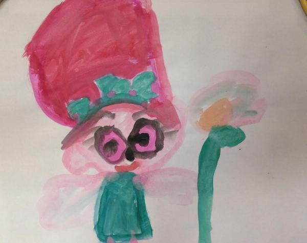 Poppie the Troll by Miss Olive Fields