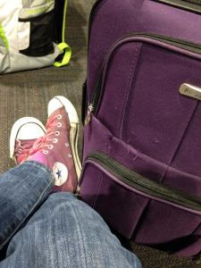 Yes, I do have a purple suitcase. Why do you ask?