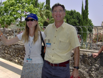 Zvi with his daughter Sarah, also a tour guide.