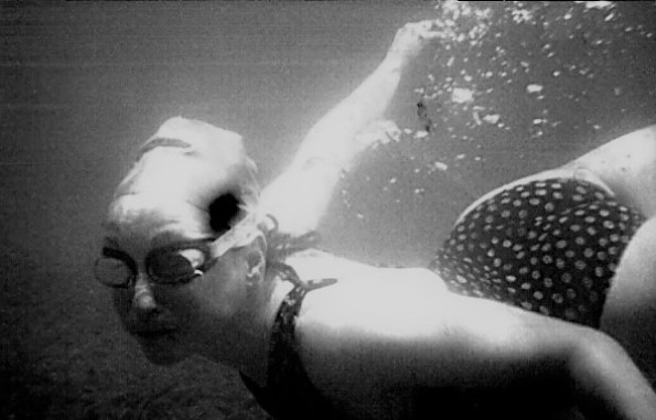 Swimmer with goggles- me