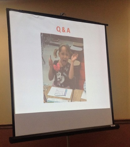 Of course I included my darling granddaughter in the presentation. Bubbie's prerogative.