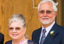 Frances and Tom Mosby. We forgot to take pics together so here they are at their sons recent wedding.