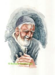 Yussel Weeps over his Broken Menorah