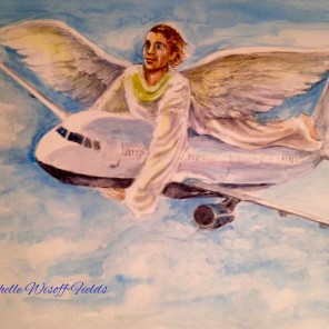 Based on a woman's vision re her fear of flying. Original was 8 x 10