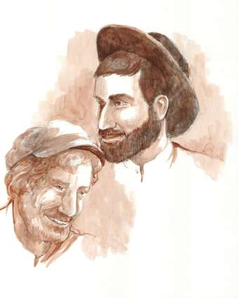 David and Mendel Cohen Original Artwork © Rochelle Wisoff-Fields