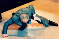 Jack Palance doing a on-armed push up at the 1992 Oscars