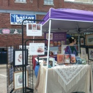Corks & Canvas 2018 table and signs