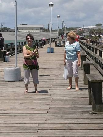 Rochelle and Debbie on the pier