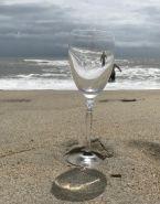 wine glass on the Beach