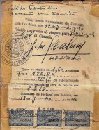 One of the visas issued by Sousa Mendes