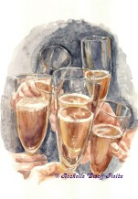 Cheers - Original Painting 11 x 14 $300.00