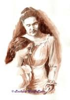 Helen Keller and Annie Sullivan