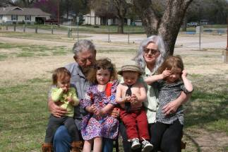 Ray and Vicki with great-grandchildren
