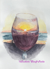 Red Wine at Sunset