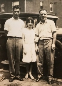 My mother and grandpa with cousin George Weinberg