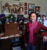 The Author-Illustrator in her natural habitat.