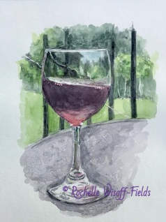 Tilted Wine with copyright
