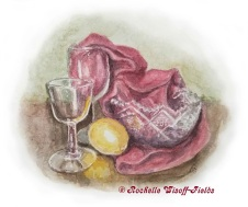 Red Wine & Crystal with copyright