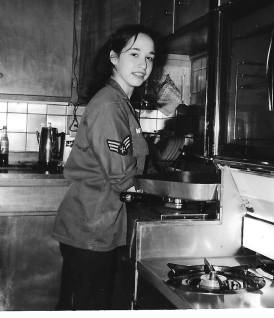 Teenage me in the kitchen. Might I add...tiny kitchen.