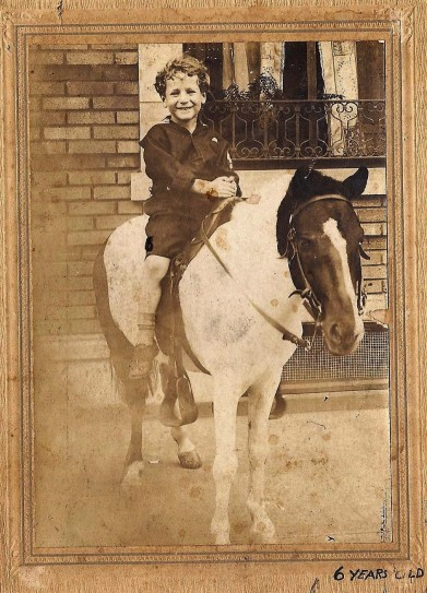 This a picture of my dad at 6 in 1920 in Brooklyn NY. ;)