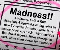 Ad for Monkees audition