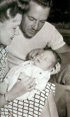George and Janelle Dolenz with newborn Micky
