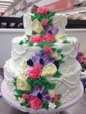 Cake with Cala Lilies