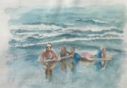 Lying on the beach (1)